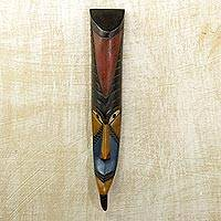 Ghanaian wood mask, 'Long Face' - African wood mask