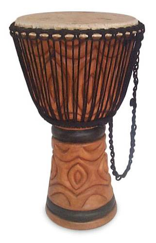 Wood djembe drum, 'Infinite Love' - Wood djembe drum