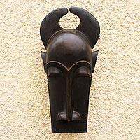 Ivoirian wood mask, 'Crocodile of Peace' - Ivoirian wood mask