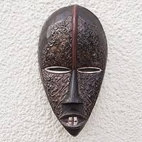 Akan wood mask,