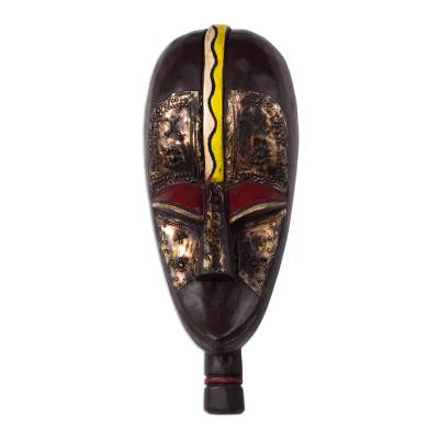 Akan Tribal Wood Mask