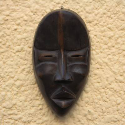 Hand Crafted Wood Wall Mask