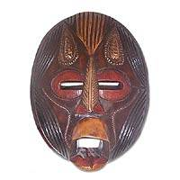 Akan wood mask, 'Spirituality' - Akan wood mask