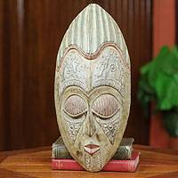Akan wood mask, 'King of the Cocoa' - Akan wood mask