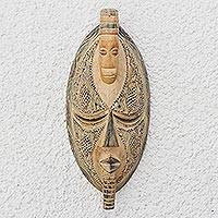 Ewe wood mask, 'One Who Has Patience' - Ewe wood mask