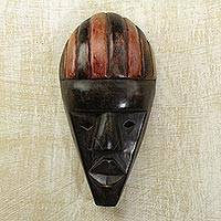 Akan wood mask, 'Testimony' - Akan wood mask
