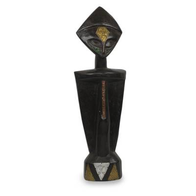 Artisan Carved Cultural Wood Sculpture
