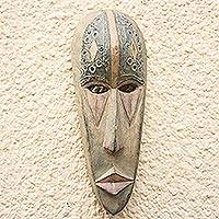 Akan wood mask, 'Spirit Protector' - Akan wood mask