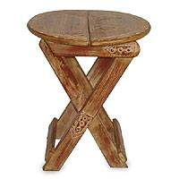 Wood folding table, 'Take Me With You' - Wood folding table
