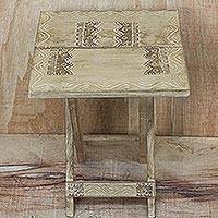 Wood folding table, 'Picnic Time' (Ghana)