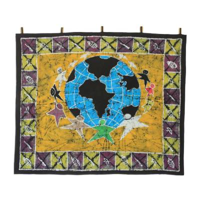 Batik Cotton Wall Hanging from Africa
