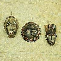 Wood ornaments, 'Wise Men' (set of 3) - Handcrafted Wood Christmas Ornaments (Set of 3)