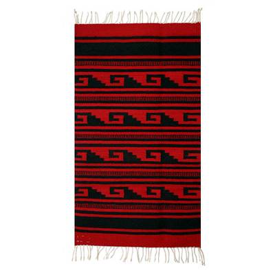 Zapotec Wool Area Rug from Mexico (2x3.5)