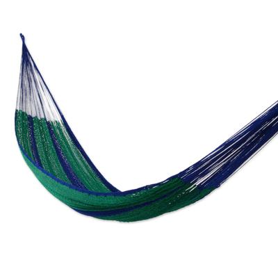 Hammock, 'Royal Pheasant' (double) - Striped Rope Hammock (Double)