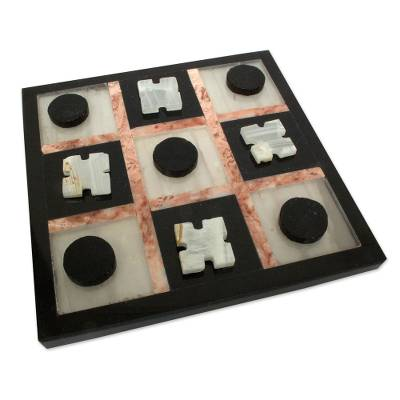 Marble Tic Tac Toe Board Game from Mexico