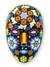 Beadwork mask, 'Peyote Blossom' - Huichol Papier Mache Mask Covered with Beads thumbail