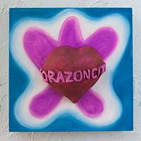 Ceramic wall art Little Heart of Mine Mexico