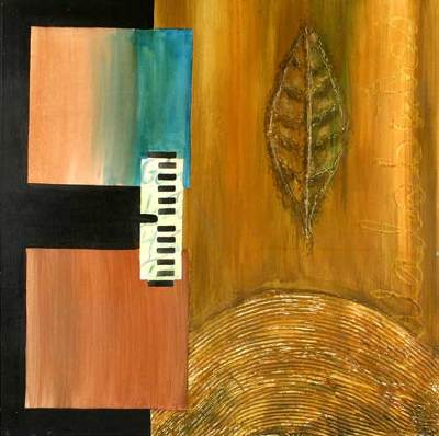 'Suspended Piano' - Abstract Music Painting