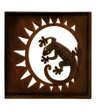 Handmade Steel Lizard Wall Art Sculpture