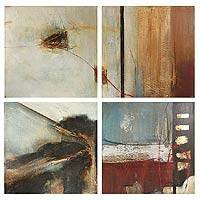 'Reflection' (quadriptych) - Abstract Mexican Paintings (Set of 4)