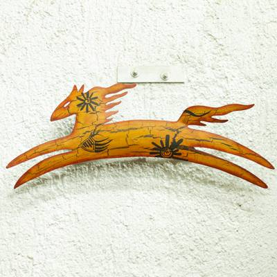 Iron wall adornment, 'Cave Art Pony' - Unique Animal Themed Steel Horse Wall Art Mexican Handmade