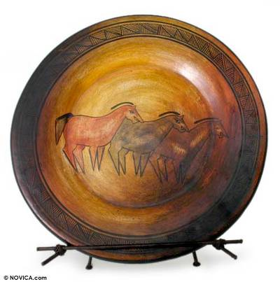 Collectible Ceramic Horse Decorative Plate