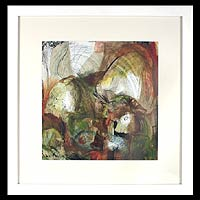 'Hallucinations' - Framed Monotype Print Mexico Fine Art