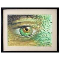 'I Grant You the Power to Tear Tears from My Eyes' - Tears Original Mexico Realist Painting