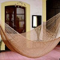 Hammock, 'Glowing Bronze' (double) - Mayan Handcrafted Hammock (Double)
