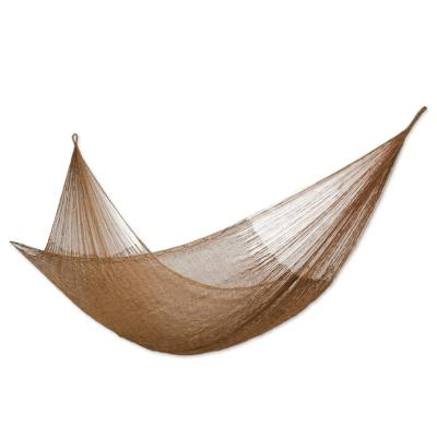 Hammock, 'Glowing Bronze' (double) - Handcrafted Solid Rope Hammock (Double)