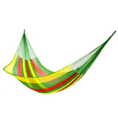Collectible Green Yellow Red Mayan Hammock (Double)