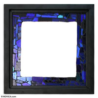 Stained glass mirror, 'Heaven' - Stained glass mirror