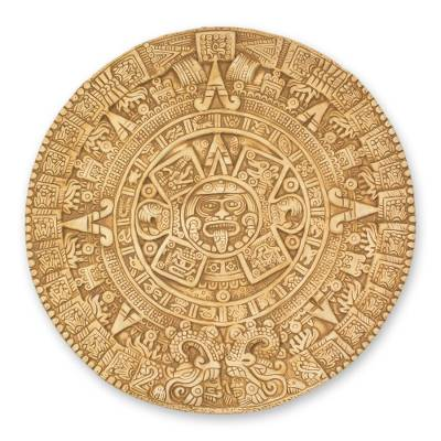 Fair Trade Mexican Archaeological Ceramic Aztec Calendar