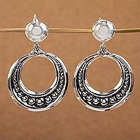 Sterling silver dangle earrings, 'Sierra'