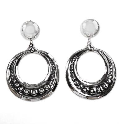 Artisan Crafted Taxco Sterling Earrings