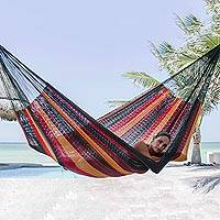Cotton hammock Red Wine Sunset double Mexico