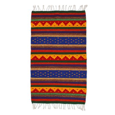 Zapotec wool rug (2x3.5)