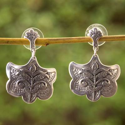 Sterling silver dangle earrings, 'Renewal' - Sterling Silver Dangle Earrings Handmade in Mexico