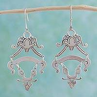 Sterling Silver Dangle Earrings Colonial Queen (mexico)