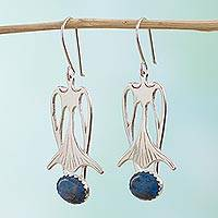 Sodalite drop earrings, 'Blue Bell' - Sodalite drop earrings