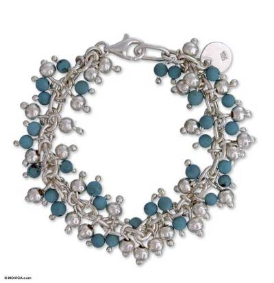 Handmade Taxco Silver Sterling Silver Link Bracelet
