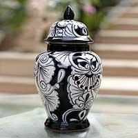 Ceramic urn,