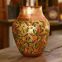 Copper vase,