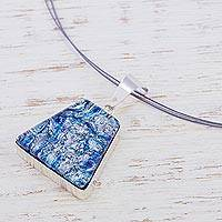 Dichroic glass jewelry set,