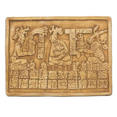 Fair Trade Maya Archaeological Replica Ceramic Plaque