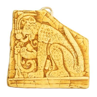 Handcrafted Ceramic Wild Cat Plaque