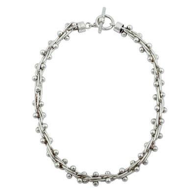 Unique Mexican Taxco Silver Choker Necklace