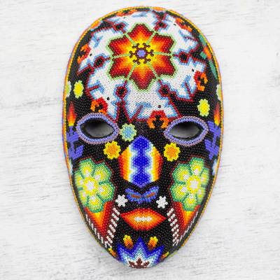 Beadwork mask, 'Dance of the Deer' - Beadwork mask