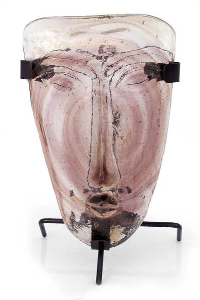 Glass mask, 'Lilac Sky Dreamer' (large) - Glass mask (Large)
