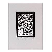 'The Cutter, Tequila Lotto' - Tequila Agave Harvest Black and White Print